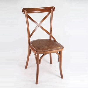 Bulk Buy From China Rattan Beerch Wood X Cross Back Dining Chairs