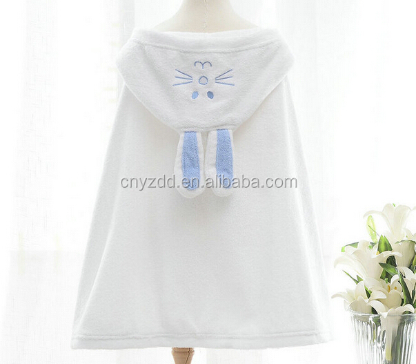 new style 100% cotton hot sale cheap baby hooded bath towel bathrobe for children