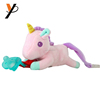 2018 plush animal silicone pink unicorn pacifier baby toys