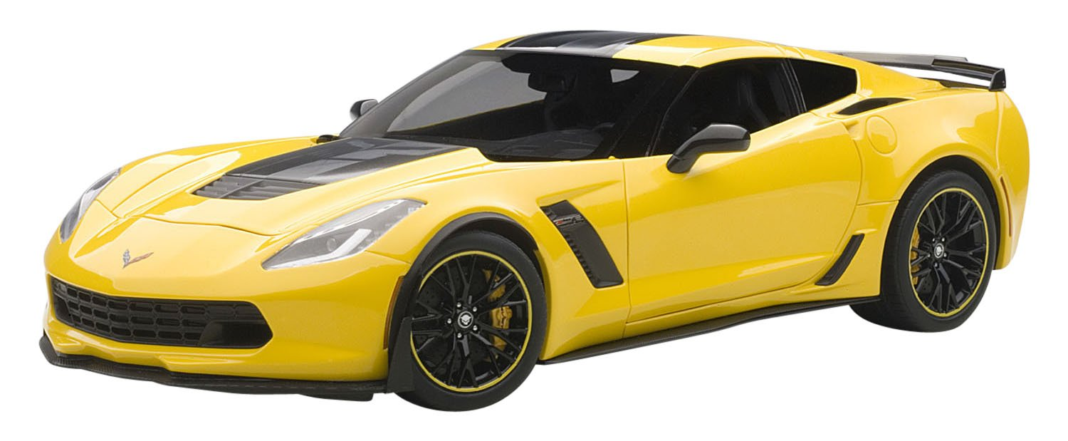 2016 Chevrolet Corvette C7 Z06 C7R Edition Racing Yellow 1/18 by Autoart 71260