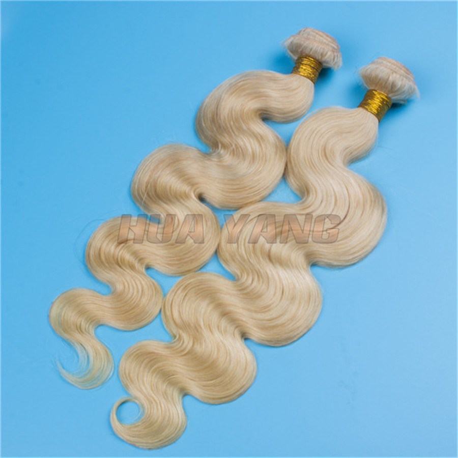 Tangle and Shedding Free Large Quantity 24inch Virgin Remy Human Hair Bundles 613 Blonde Brazilian Body Wave Hair Weft