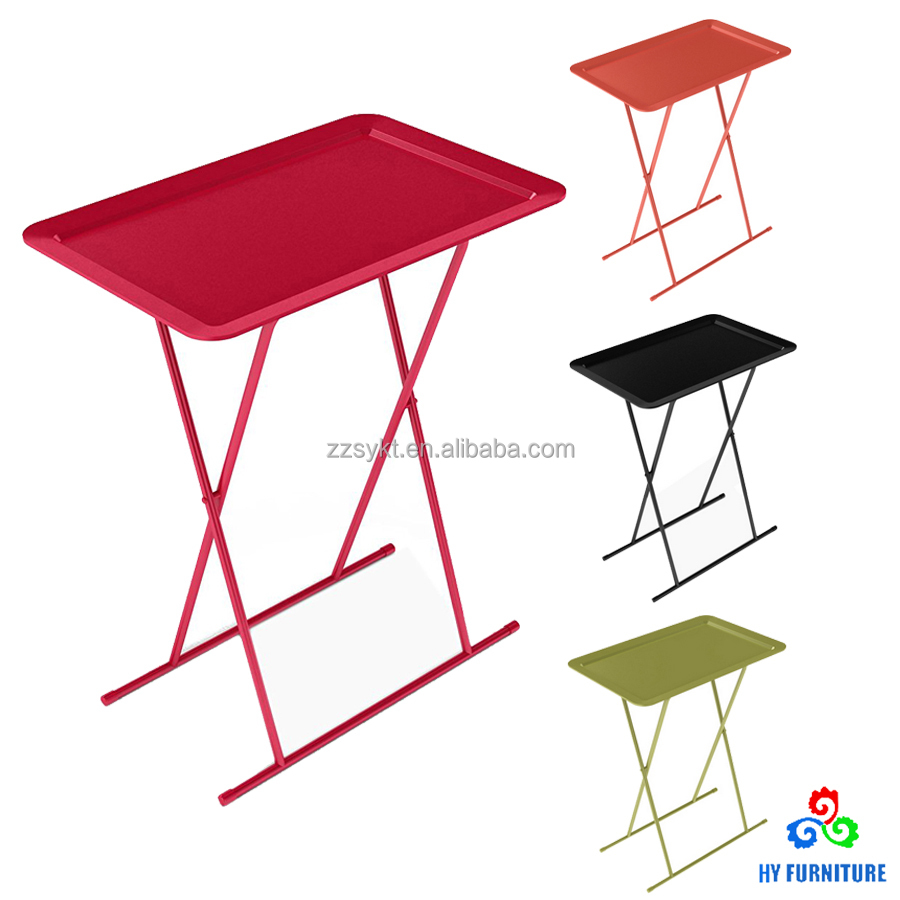 Captivating Customized Plastic Folding Snack Tray Tv Tray Table With Metal Legs   Buy  Folding Snack Tray,Snack Table,Tv Tray Table Product On Alibaba.com
