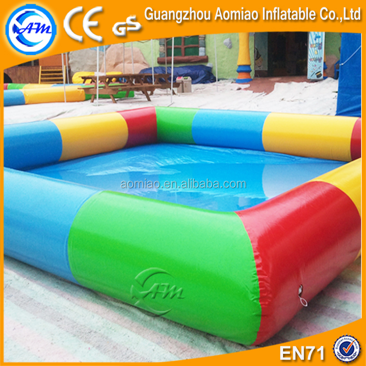 Inflatable rectangular pool rainbow inflatable swimming pool for kids