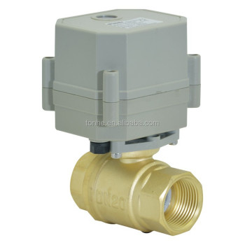 Mini 2-way Electric/motor Power Actuator Ball Valve For Water ...