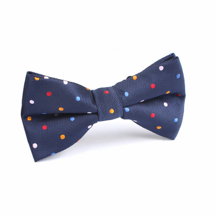 high quality colorful dots self tie bowtie for parent child