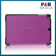 Wholesale PU Leather Magnetic Case for iPad mini Smart Cover Wake Up/Sleep Off function for Apple iPad mini 2,3,4, Retina