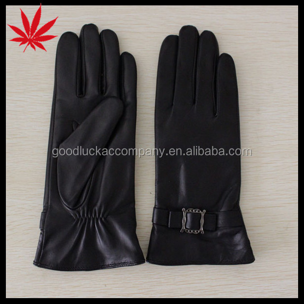 high quality woman leather motorcycle gloves