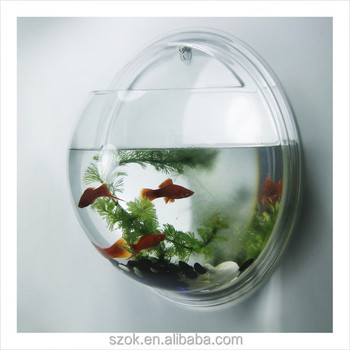 2015promotional wall mounted acrylic fish tank for living room