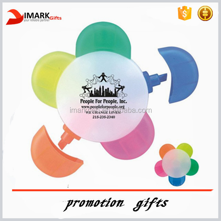 Promotional Logo Printing Highlighters with Five Colors