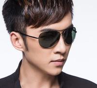 Top quality classic metal frame polarized aviator sunglasses for men eyeglass eyewear