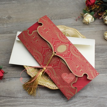 Gold Red Nepali Paper Marriage Invitation Design Wedding Cards Buy