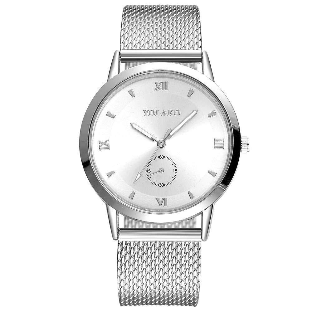 AKwell Women's Casual Quartz Plastic Leather Band Analog Quartz Round Fashion Elegant Wrist Watch
