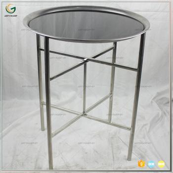 Stainless Steel Tray Table Top Short Folding