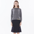 women basic round neck fashion words cotton cashmere long sleeve knitting pullover sweater