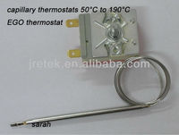 Good Quality capillary thermostats 50C to 190C/EGO type thermostat