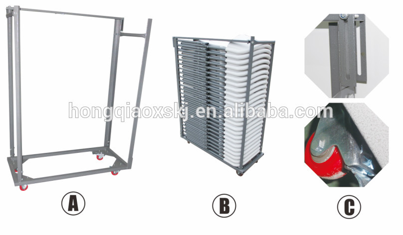 Folding Chair Trolley Cart Steel Chairs Frame Chairs Cart