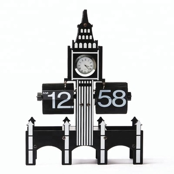 Manufacturer Patented Decorative Uk Ben Desk Flip Clock For Gift