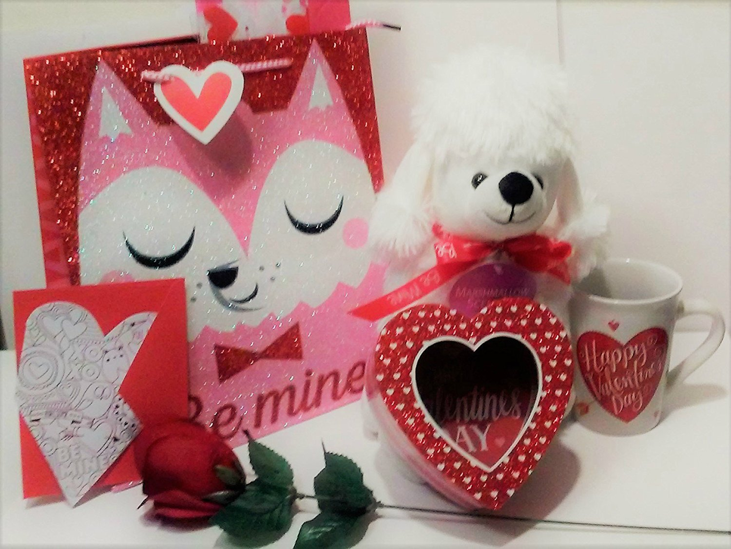 Buy Valentine Gift Set Complete With 11 Marshmallow Scented Plush Stuff Animal Dog Velvet Rose Valentine Mug Heart Shaped Gift Box Greeting Card Tissue Paper Glitter Gift Bag In Cheap Price On Alibaba Com