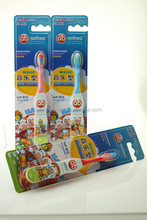 Fashion and colorful kids whiten teeth clean tooth brush with music & cartoon
