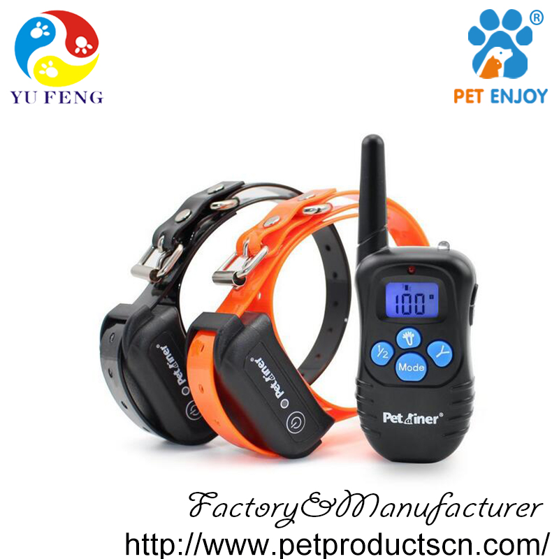 Petrainer PET998DBB 330 Yards Remote Dog Shock Collar with Beep / Vibration / Shock, 100% Waterproof Electric E-collar