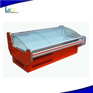 Good Price Ce Supermarket Refrigerated Display Island Cabinet Freezer For Frozen Meat