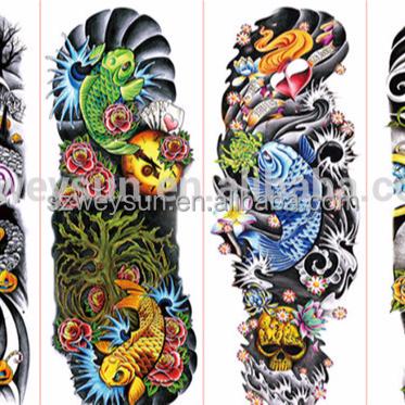 Brazo Completo Tatuaje Pegatinas Flor Grande Hombro Tatuajes Falsos - Tatuajes-de-hombro-y-brazo