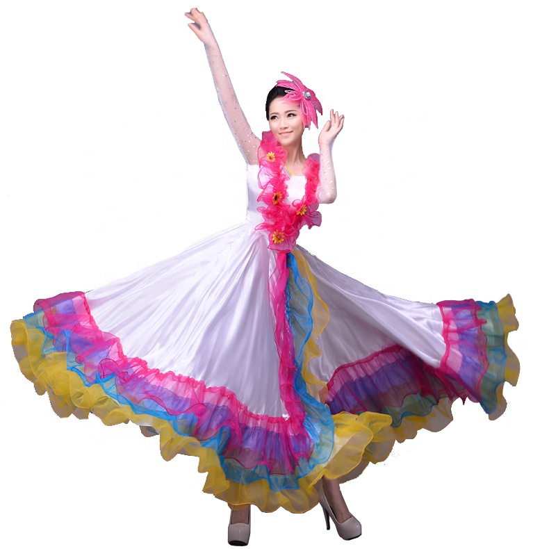 8cc0dacb7 Baile de apertura traje femenino adulto 2019 nuevo coro baile gran falda  fiesta falda de muestra
