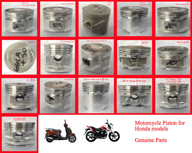 scooter motorcycle parts for honda pcx150 piston 13101-kzy-700