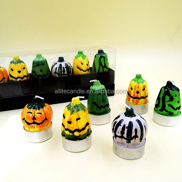 hight quality art&carft candles halloween costoms pumpkin candle