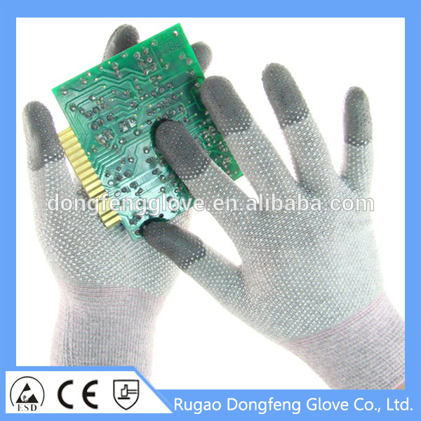 Dotted fit gloves ESD Gloves top fit Antistatic Gloves