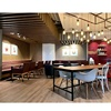 Customized restaurant retail coffee shop interior design used coffee shop furniture wholesale