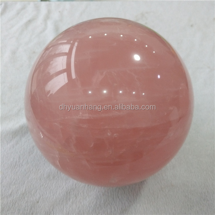 High quality natural rose quartz crystal balls crystal healing spheres