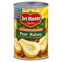 Del Monte, Cinnamon Flavored Pear Halves, 15oz Can (Pack of 6)
