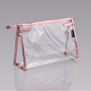 New Design Clear EVA Makeup Bag Ziplock Waterproof PVC Cosmetic Bag Promotional Travel Pouch