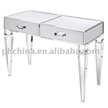 clear acrylic king george vanity tableclear acrylic vanityclear lucite - Lucite Table