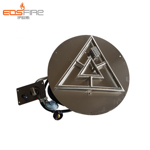 Double Triangle shaped lp gas burners for fire pits propane gas fire pit burner kit