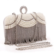 Wholesale Gullvine brand beaded women evening bag clutch