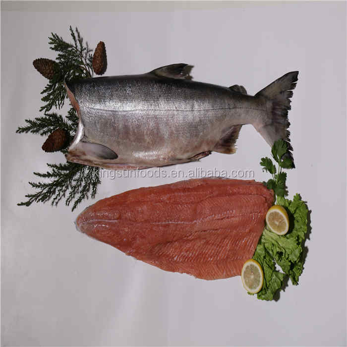 Top quality Frozen Chum salmon steak Oncorhynchus keta