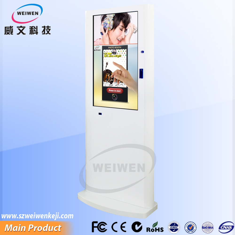 42inch picture framing equipment fabric booth hotspot management touch screen photobooth kiosk