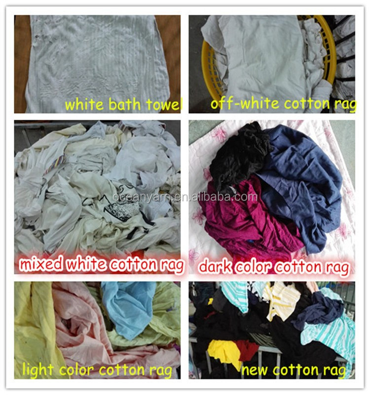 Wholesale Industrial Cotton Wiping Rags Recycled Wipers 100 ...