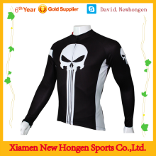 100%polyster cheap funny long sleeve cycling jersey/funny custom bike jersey