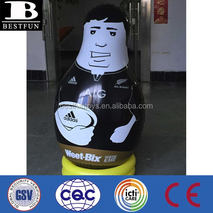 Promotional customized OEM inflatable bop bags custom made vinyl portable bop bags
