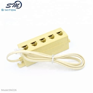 rj11 6p4c 5way splitter with 28awg flat cable
