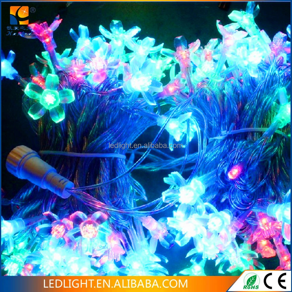 230v PVC wire IP 44 extendable LED maple leaf string fairy light for Christmas holiday decoration