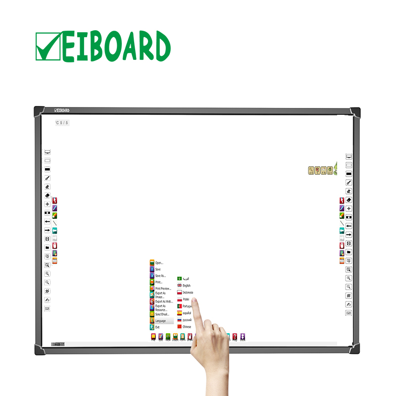 Multi-touch 10 punten infrarood educatief apparatuur smart dvt digitale board interactive