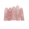 ZQ Natural polish single Rose Quartz pink crystal wand point for sale