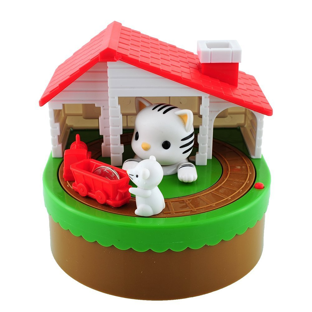 PowerTRC Cat and Mouse Coin Bank