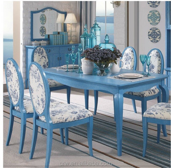 Dt-4072 Vintage Blue And Antique White Dining Table Set Garden Furniture -  Buy Garden Furniture,Antique White Dining Table Set,Vintage Blue Dining ...