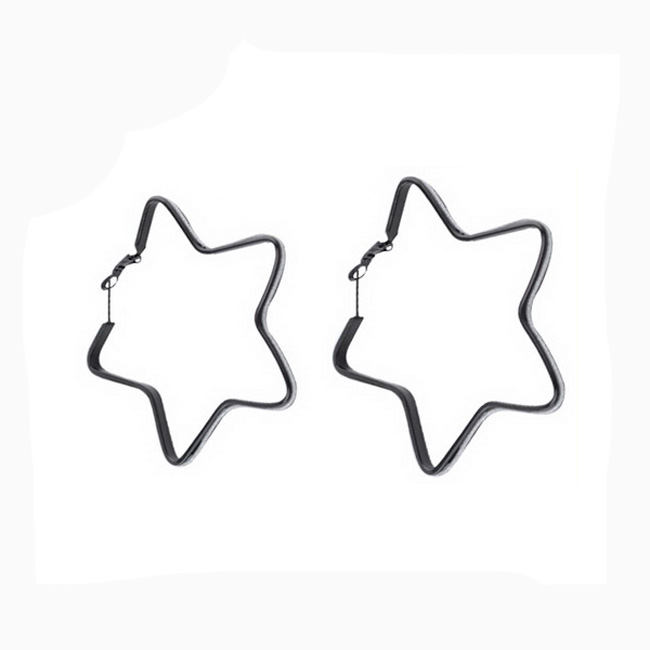 black star pressed earrings, cheap China wholesale earrings, hoop earrings wholesale