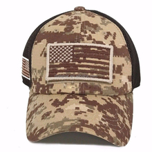 USA American Flag Hat,Camo Tactical Operator Military Hat,Mesh Trucker Baseball Cap